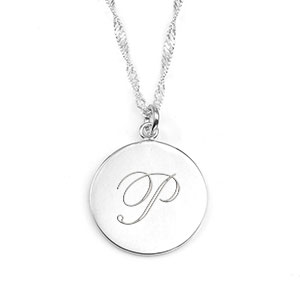 Thoughtful Engraved Sterling Silver Necklaces