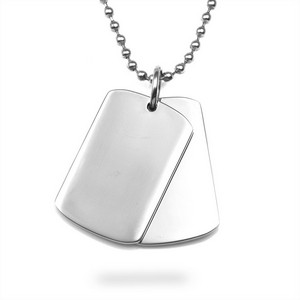 Custom Engraved Double Dog Tag Necklace