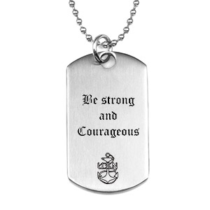 Custom Dog Tag Style Engraved Necklace