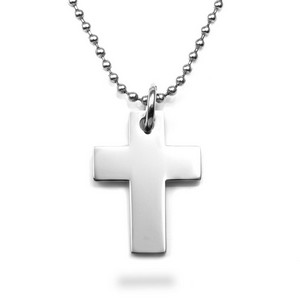 Personalized Silver Cross Necklace