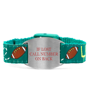 Touchdown Bracelet with Safety ID Tag