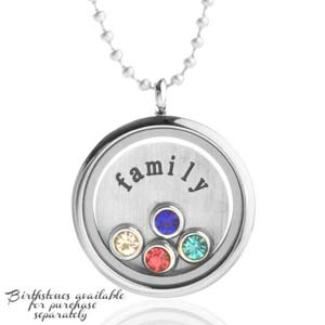 Family Personalized Locket with Additional Birthstones