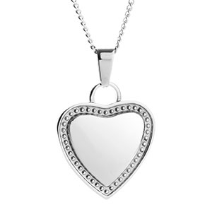 Engravable Heart Necklace For Her