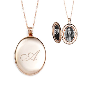Brianna Rose Gold Personalized Locket Necklace