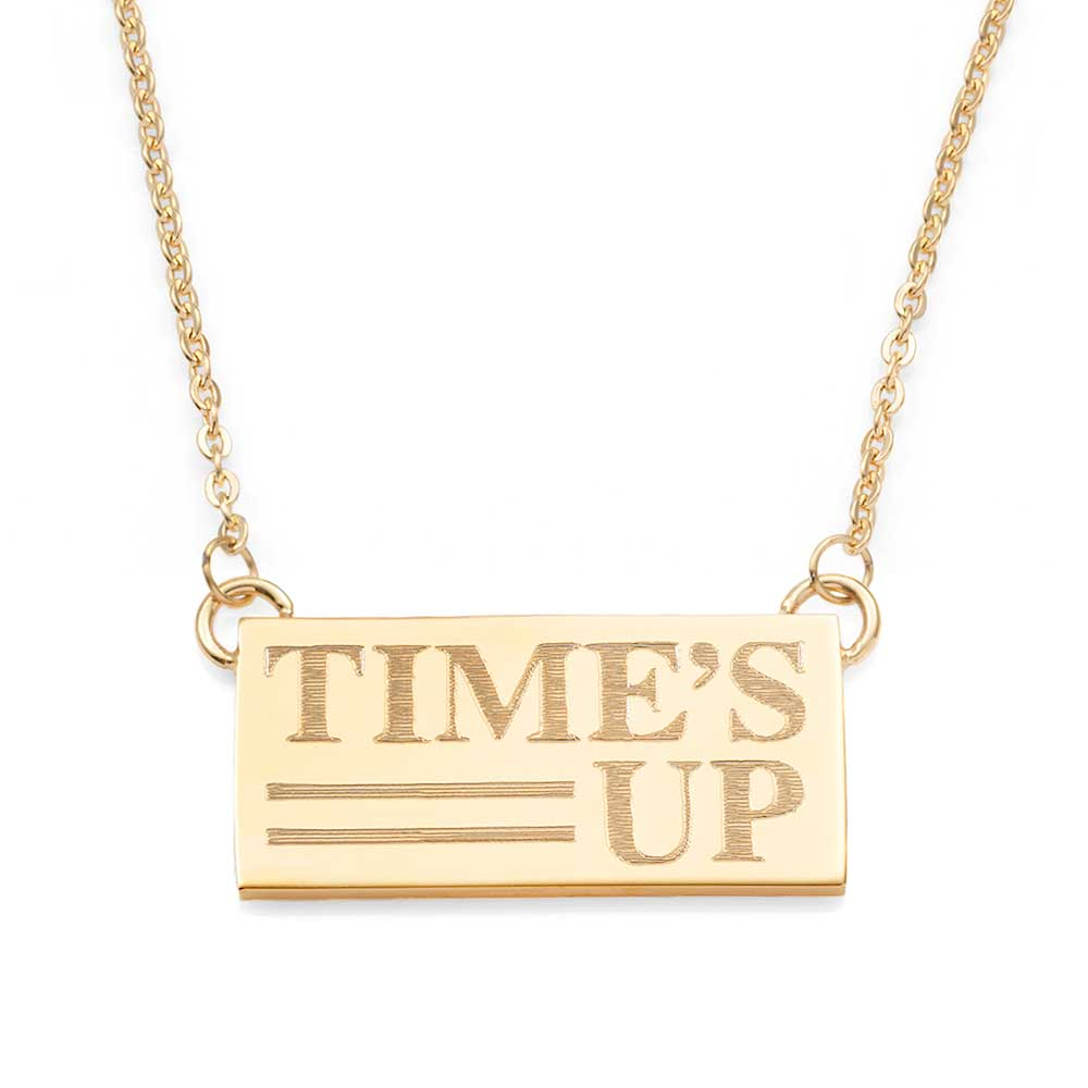 Times UP 18K Gold Adjustable Personalized Necklace