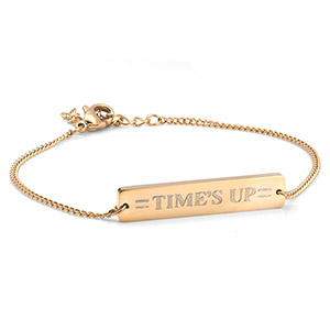 Times UP Gold Bar Bracelet