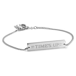 Times UP Personalized Bar Bracelet
