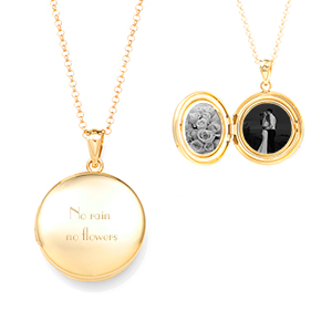 Charming Gold Round Locket Necklace