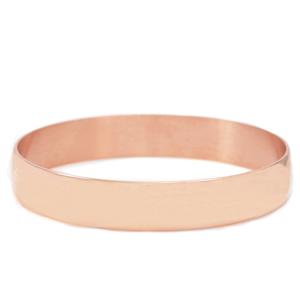 Engraved Rose Gold Plated Bangle Bracelet for Women