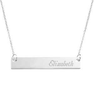 Adjustable Personalized Bar Necklace
