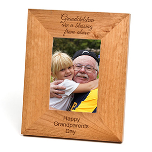Alder Wood Personalized Picture Frame for 5 x 7 In Photo