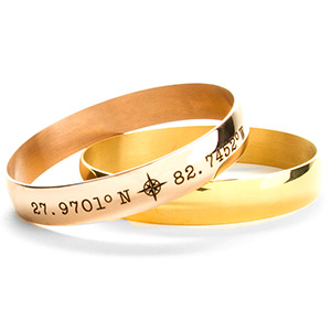 Arianne Bangle Coordinates Bracelet