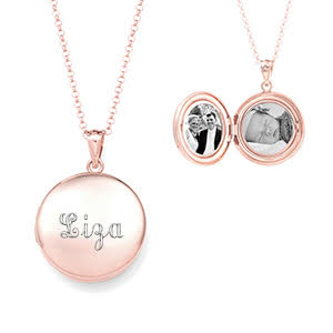 Artisan Rose Gold Personalized Locket Necklace