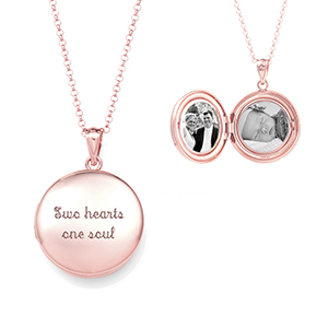 Artisan Rose Gold Personalized Locket Necklace