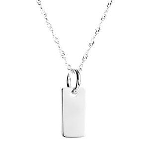 Petite Sterling Silver Custom Engraved Pendant