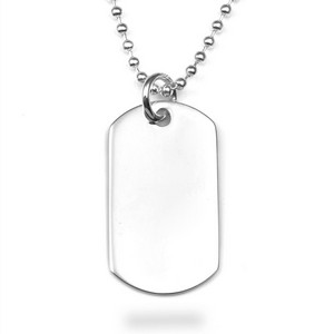 Sterling Silver Engraved Dog Tag Pendant