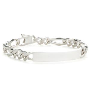 Sterling Silver Figaro Personalized Bracelets