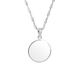 Lea Petite Personalized Sterling Silver Pendant