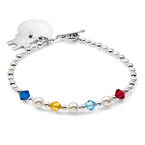 Autism Awareness Beaded Charm Bracelet