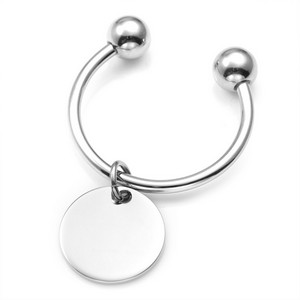 Rounded Edge Stainless Steel Custom Key Chains