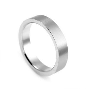 Thin Band Brushed Steel Custom Rings
