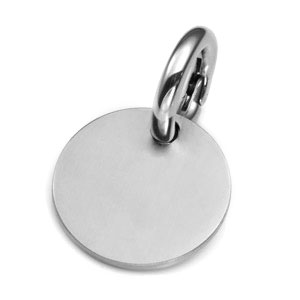 MD Brushed Stainless ID Tag for Purses, Pets, & More