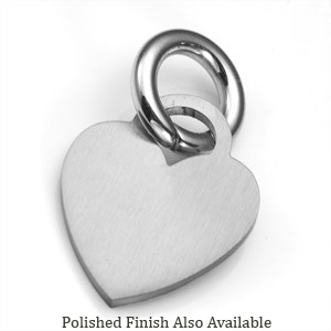 SM Stainless Heart ID Tag for Purses, Pets, & More
