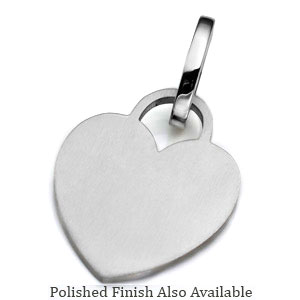 LG Stainless Heart ID Tag for Purses, Pets, & More