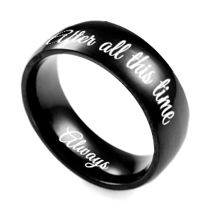 Black Elegance Personalized Ring