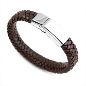 Braided Dark Personalized Leather Bracelets