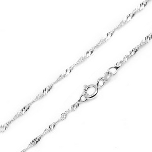 1.5mm Sterling Silver Singapore Chain 16 - 20 inch