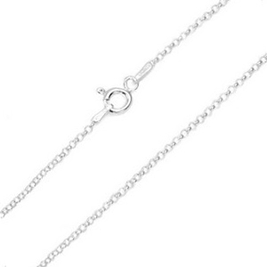 1.2mm Sterling Silver Rolo Neck Chain 15 - 20 inch