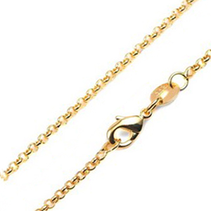 1.5mm 14K Gold Plated Rolo Neck Chain 18 - 20 inch
