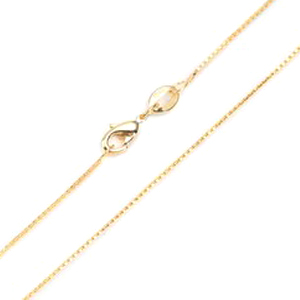 .9mm 14k Gold Plated Box Neck Chain 16 - 20 inch