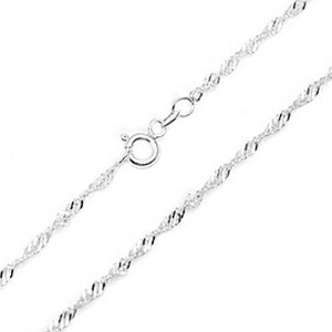 2.0mm Sterling Silver Singapore Chain 20 inch