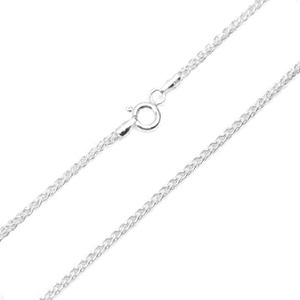 1.5mm Sterling Silver Spiga Chain 18 inch