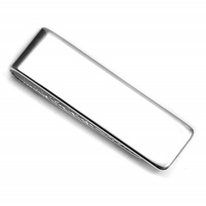 Engraved Sterling Silver Slim Money Clip