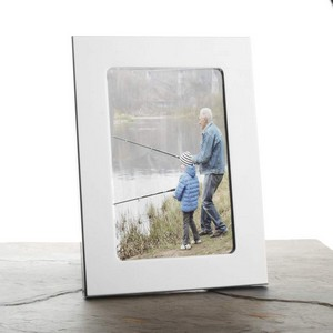 Engraved Silver Picture Frame for 4 x 6 In Photo