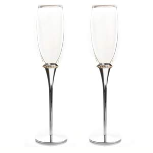 Engraved Champagne Glass Toasting Flutes