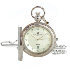 Charles Hubert Paris Photo Insert Engravable Pocket Watch