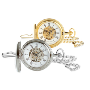 Charles-Hubert Paris Skeleton Dial Pocket Watch for Him