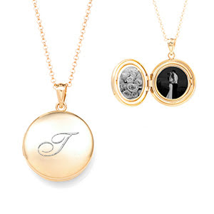 Charming Gold Engraved Locket Necklace