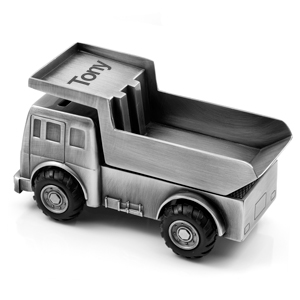 Childrens Dump Truck Coin Bank
