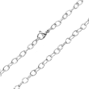 5mm Stainless Steel Rolo Neck Chain 28 Inch