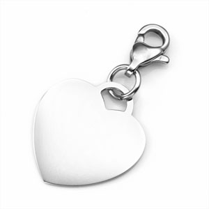 Custom Engraved Heart Charm