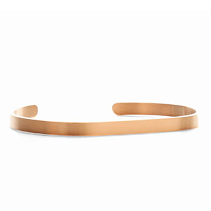Engraved Rose Gold Dainty Cuff Bracelet Small