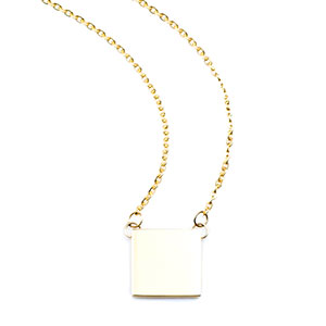 Claire Square Gold Engraved Necklace