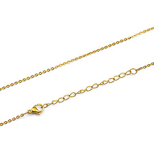 IP Gold Flat O Chain 18-20 inch