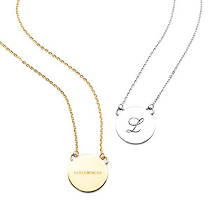 Nyxs Minimal Engraved Necklaces for Her