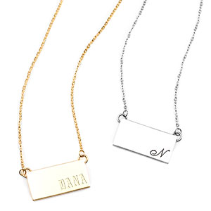 Sheilas Personalized Bar Necklaces for Her